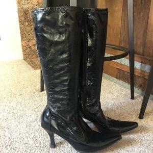 Etienne Aigner black zip up boots size 10